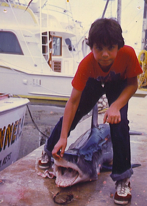 Short-Fin Mako Shark in Key West, 1977