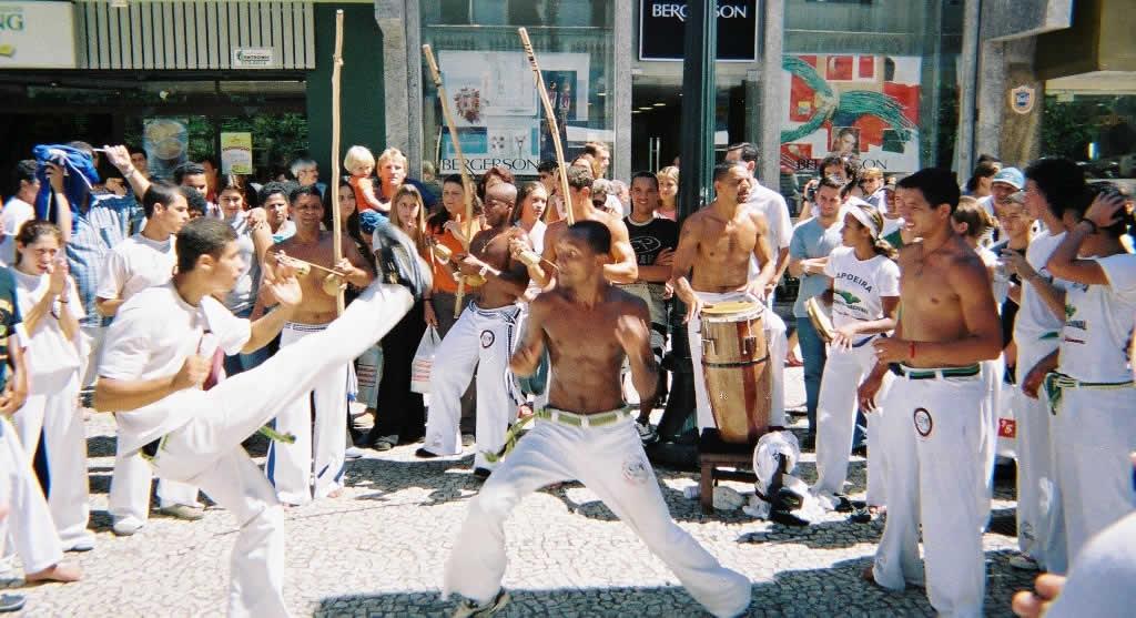 Capoeira performance in Curitiba, Brazil