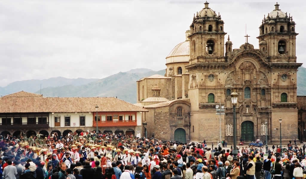 Christmas Procession in Cusco, Peru