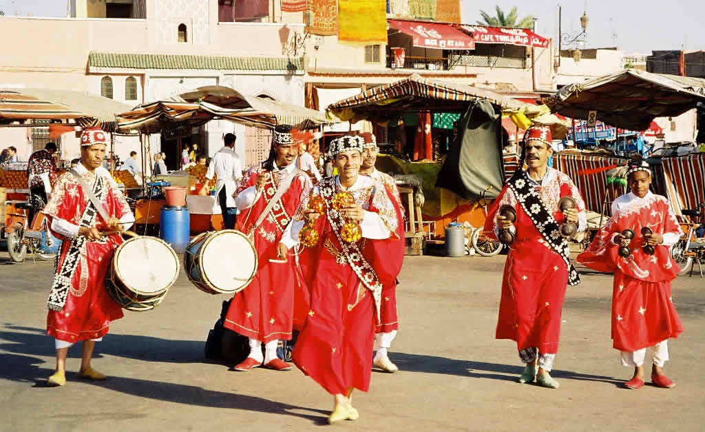 Dancers at Djema el Fna in Marrakesh, Morocco