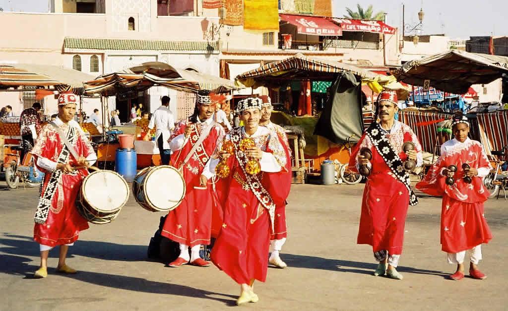 Dancers at Djemaa el Fna in Marrakesh, Morocco