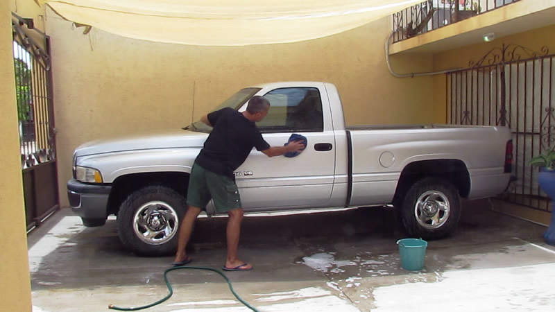 Car wash at a house sit in Mexico