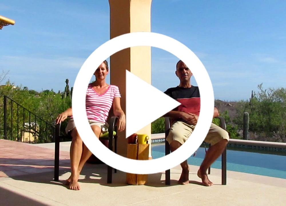 Blue World Nomads house sitting video
