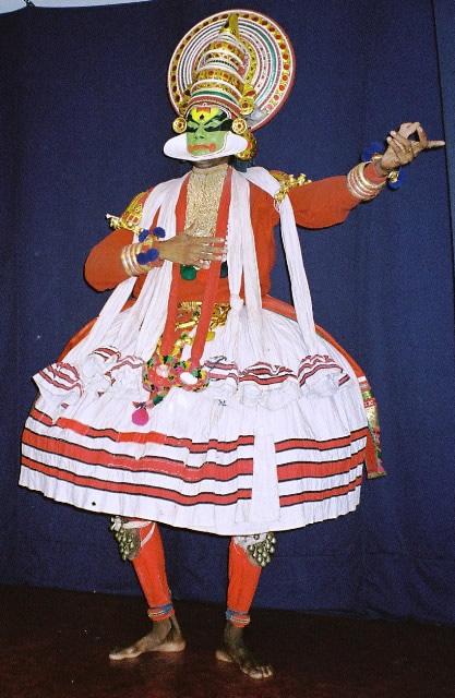 Kathakali Dancer in Cochin, India