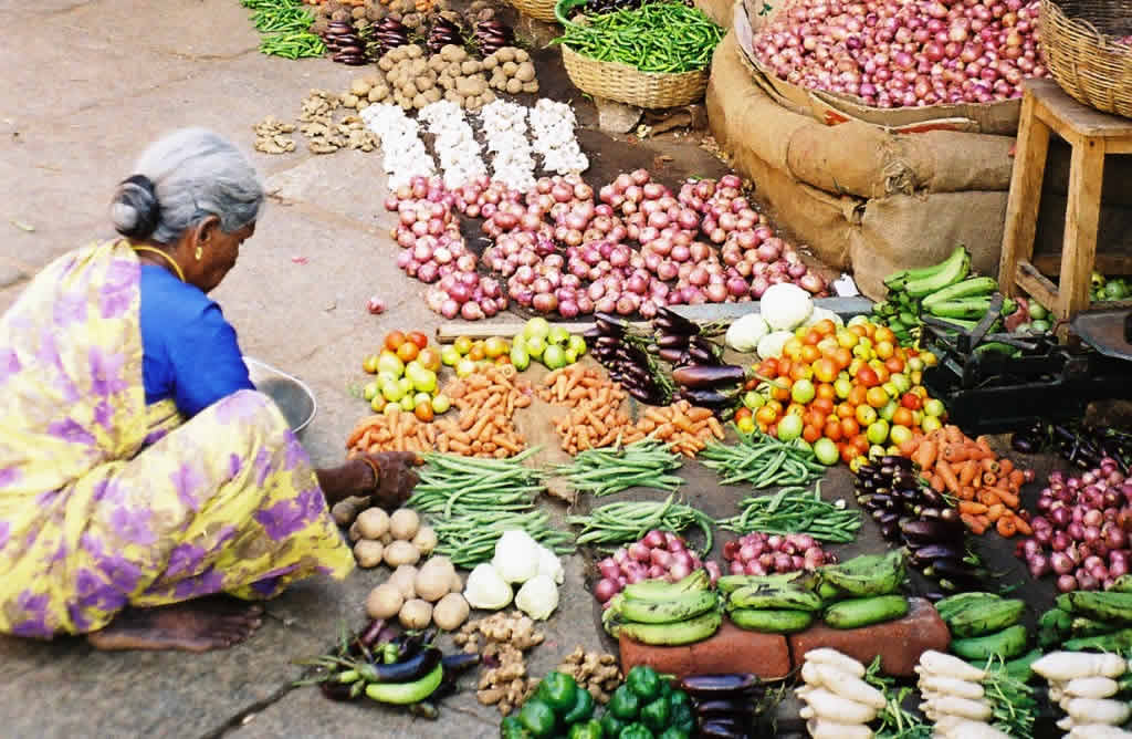 Vegetable Vendor in Mysore, India